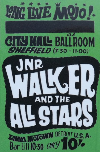 Original 60s gig posters by Colin Duffield