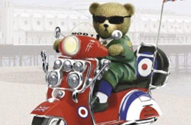 Ready Teddy Go Mod-inspired figurine