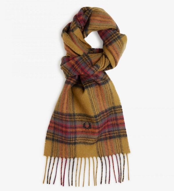 Fred Perry classic wool tartan scarves