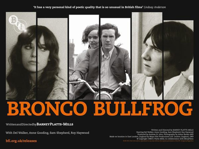 Bronco Bullfrog BFI movie poster