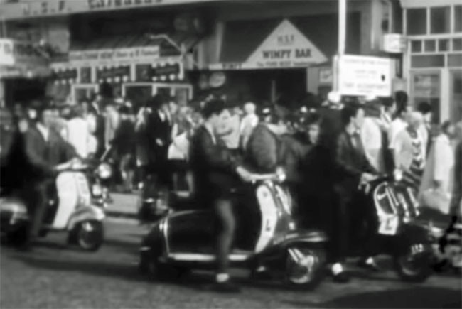 Mods at Brighton in the 1960s by Johnnie Taylor