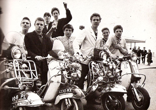 Steve Barrow and a group of 1960s mods