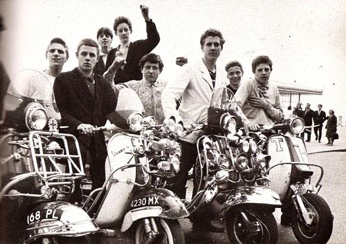 Steve Barrow and a group of 1960s mods