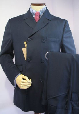 Double-breasted mod suit