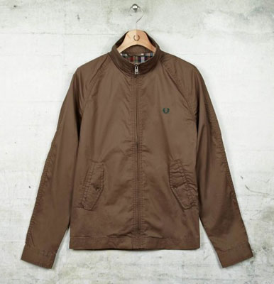 Fred Perry waxed Harrington jacket