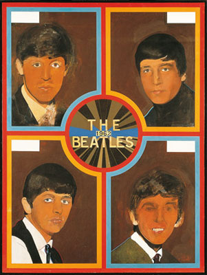 Sir Peter Blake's The Beatles 1962 screenprint