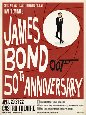 James Bond 50th anniversary posters by Max Dalton