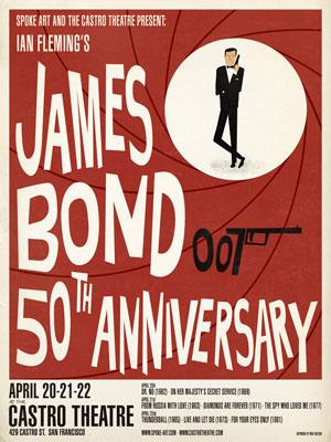 James Bond 50th anniversary posters by Max Dalton
