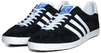 Adidas Gazelle OG trainers reissued in classic black and white