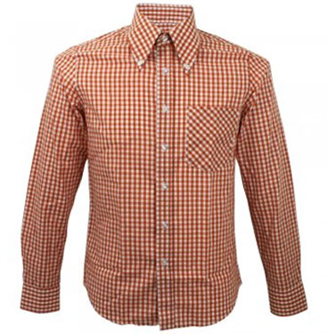 Mikkel Rude 1960s-style long-sleeve check shirts