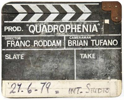 Quadrophenia clapperboard