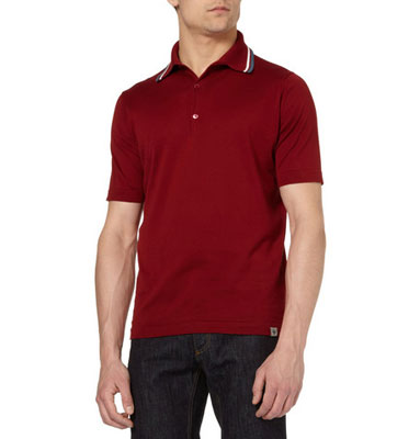 John Smedley Active Striped knitted cotton polo shirt