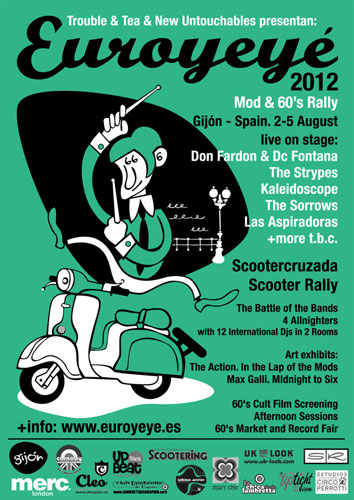 18th Euro Ye Ye Mod/60s rally in Gijon, Spain