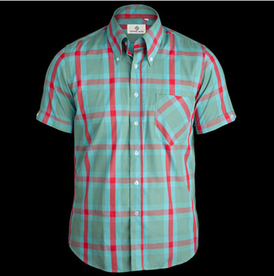 New window pane short-sleeved check shirts by Mikkel Rude
