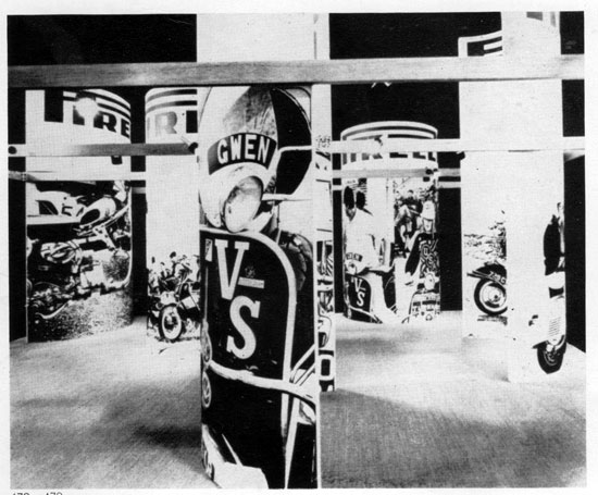 1960s mod-themed Pirelli scooter tyres adverts