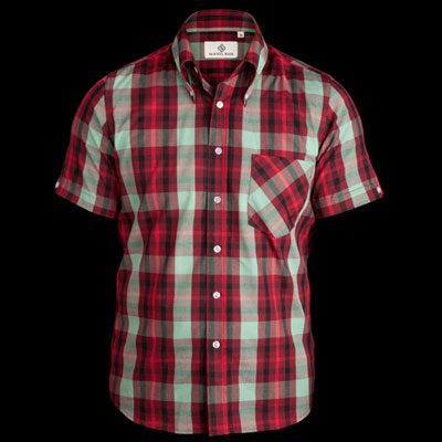 Mikkel Rude window pane check shirt