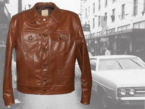1960s Type 3 leather jean jacket at Aero