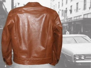 1960s Type 3 leather jean jacket