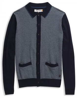 Plectrum by Ben Sherman 1960s-style cardigan
