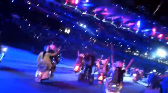 Video: Olympics Closing Ceremony – from the back of a scooter