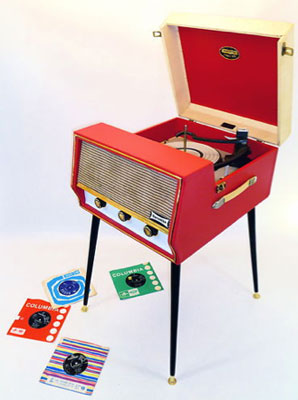 1960s Dansette Conquest record player with legs