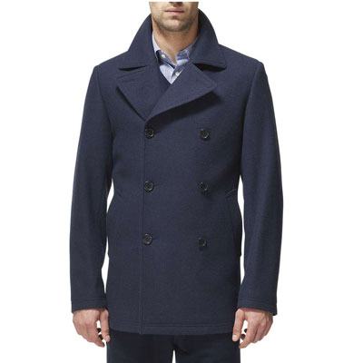 Budget x high-end: Uniqlo wool blend pea coat x classic pea coat at Jaeger