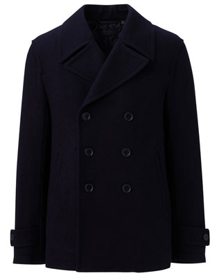 Uniqlo wool blend pea coat
