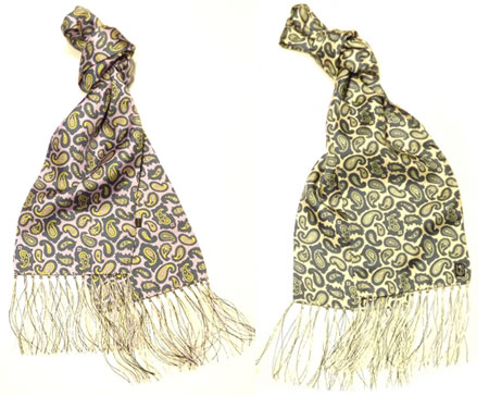 Peckham Rye paisley silk scarves