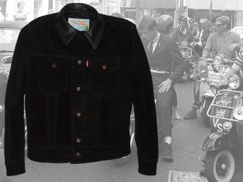 1960s Type 3 jean jacket in black suede at Aero