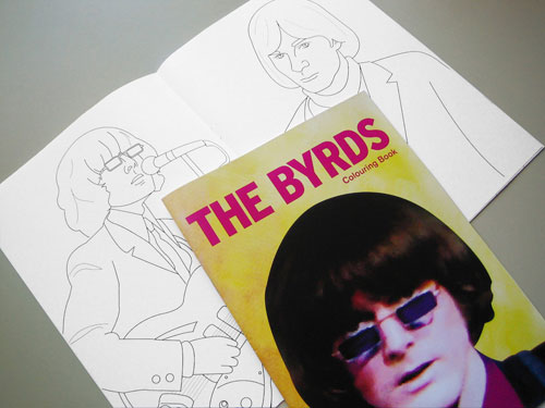 The Byrds colouring book by Piper Gates Design