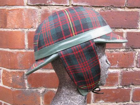 1960s Waddington deerstalker crash helmet