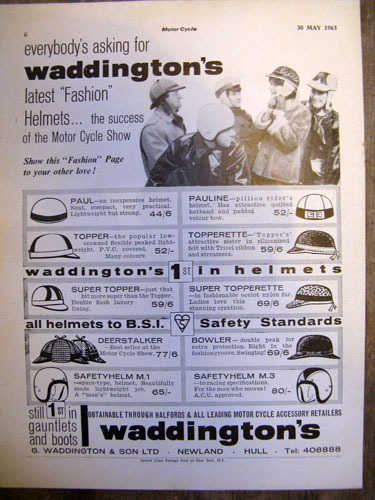 1960s Waddington deerstalker crash helmet