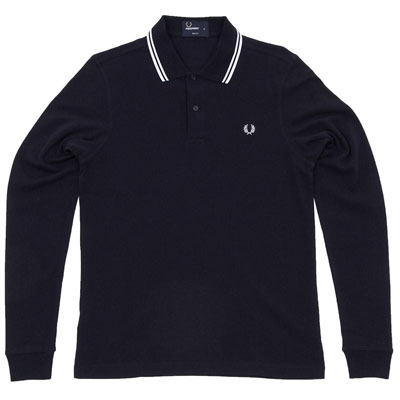Fred Perry long-sleeve tipped polo shirts – new colours now available