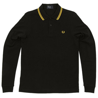 Fred Perry long-sleeve tipped polo shirts