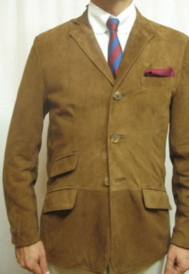 DNA Groove 1960s-style suede sports jacket