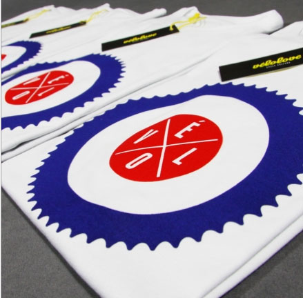 Chainring t-shirt by Velolove