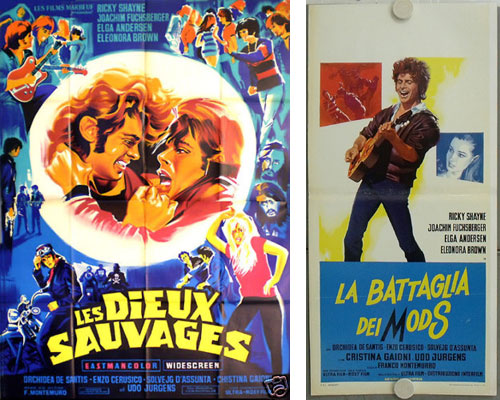 1960s Battle of the Mods movie posters