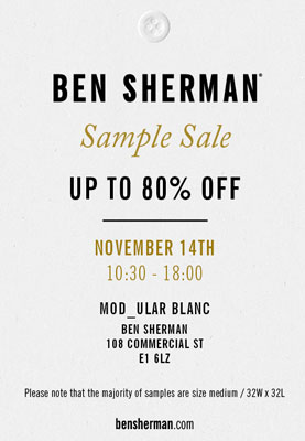 Ben Sherman Sample Sale in London