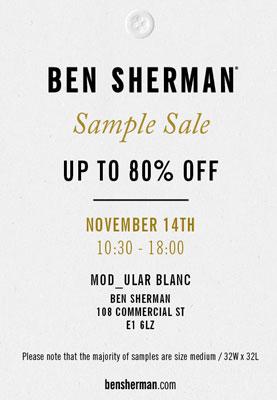Ben Sherman Sample Sale in London