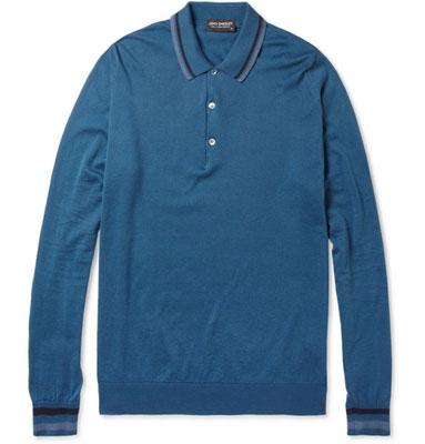 John Smedley Terrence long-sleeved polo shirt