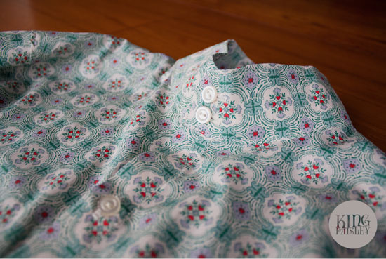 King Paisley 1960s-style custom shirts