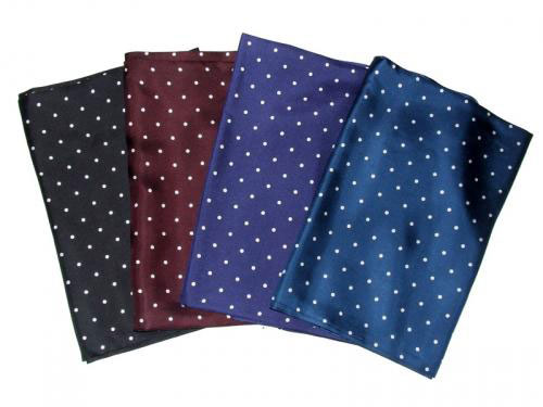 Polka dot silk scarves at Aero