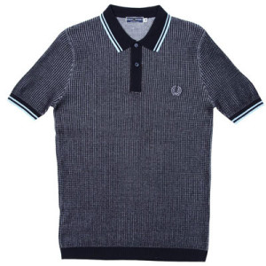 Fred Perry textured knitted polo shirts