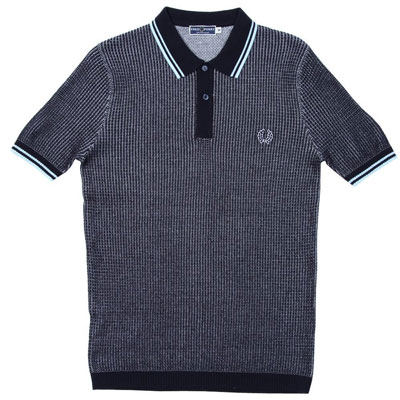 New Fred Perry textured knitted polo shirts