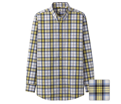 Uniqlo extra-fine cotton button-down check shirts