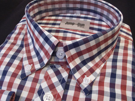 New in: 1960s-style gingham button-down shirts at Jump The Gun