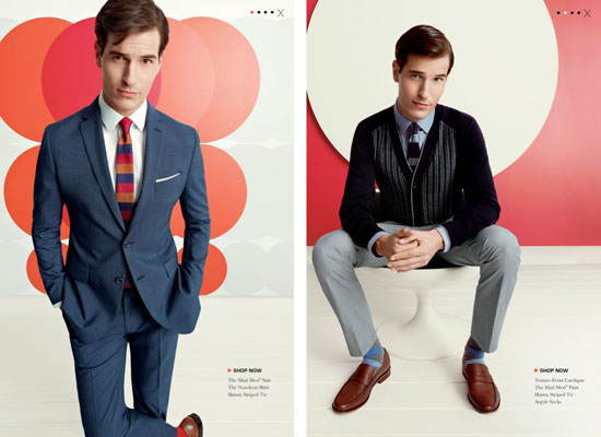 47d486ea3c3 New 1960s-style Mad Men clothing range arrives at Banana Republic ...