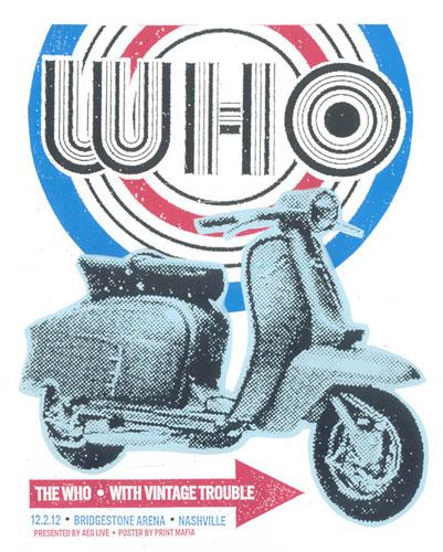 The Who Quadrophenia tour poster by Print Mafia