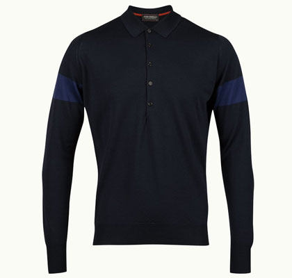 John Smedley Newstead long-sleeved polo shirts