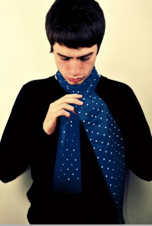 Art Gallery 1960s-style Davies polka dot scarves